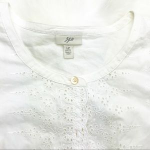 J. Jill | Embroidered Eyelet Button Down Blouse